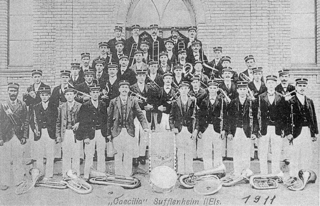 Musique Sainte Cécile en 1911