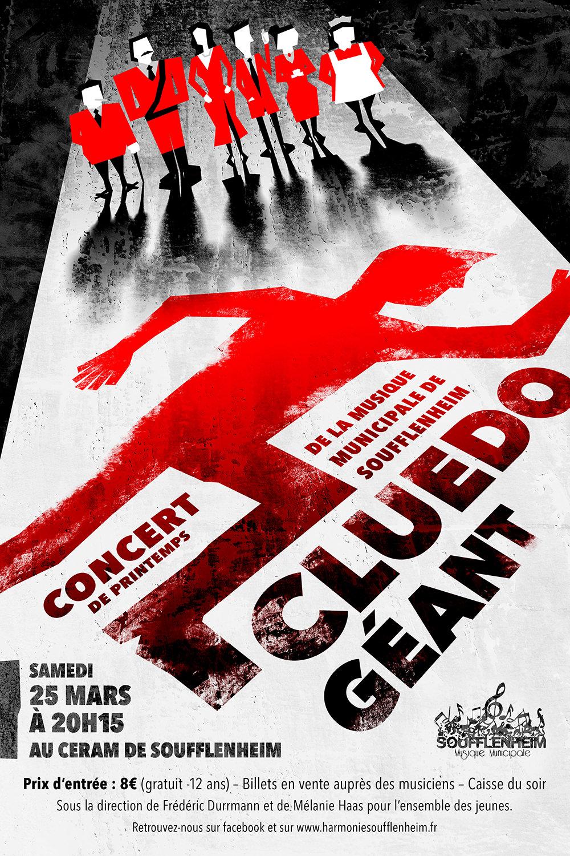 Affiche Concert de Printemps : Cluedo Géant